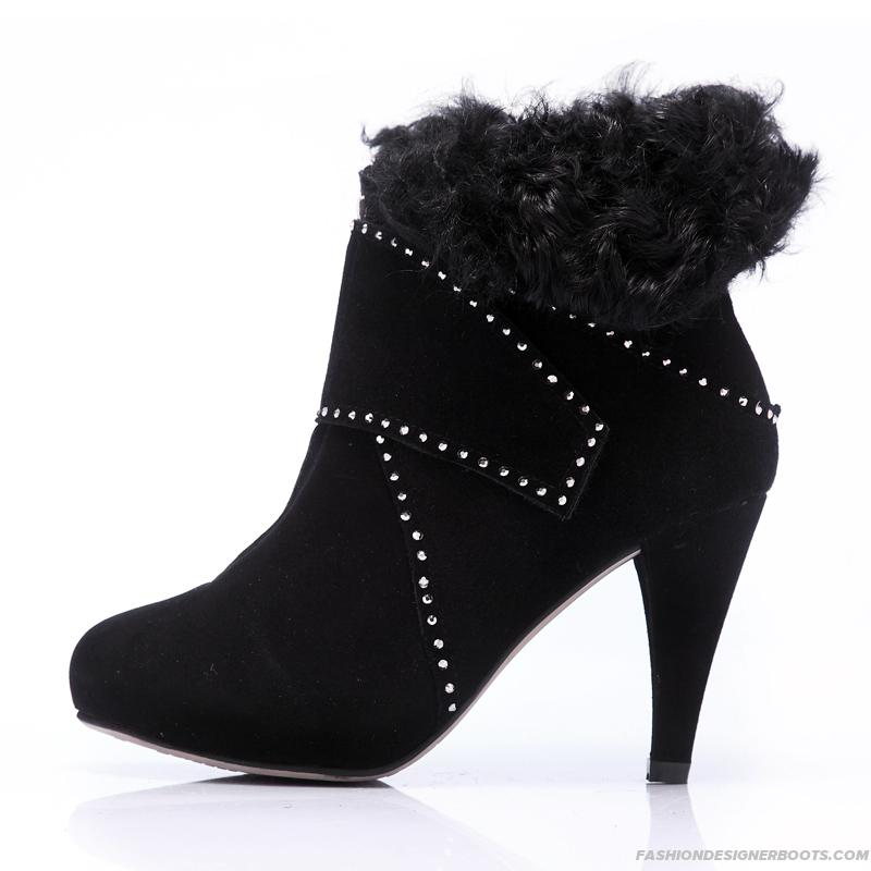 High heeled winter boots dangerous on ice and snow